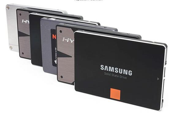 Пример SSD дисков форматом 2,5 дюйма
