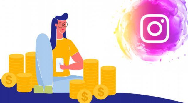 Иллюстрация на тему монетизации контента Instagram