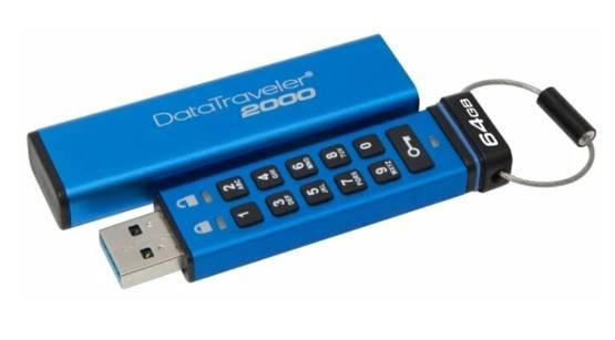 Флешка Kingston DataTraveler 2000 с лучшей защитой данных