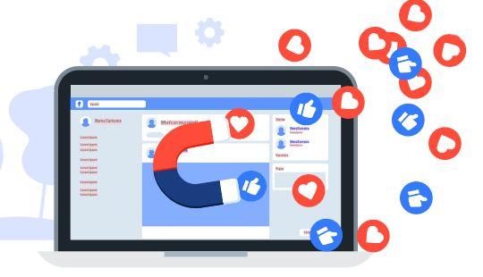 Притяжение лайков и подписчиков в группу на Facebook