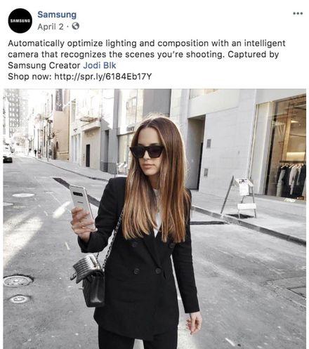 Samsung републикует пост своего поклонника