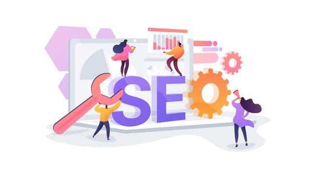 Концепция SEO настройки веб-сайта для привлечения поискового трафика