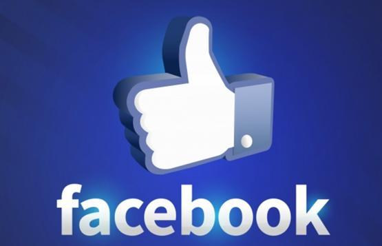 Яркий образ символа лайка на Facebook
