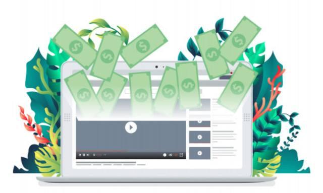 Образ процесса монетизации видео на канале YouTube