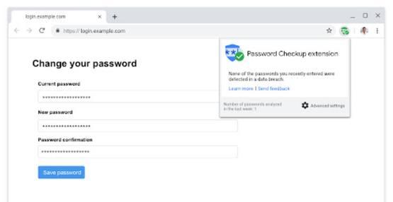Проверка безопасности пароля с помощью расширения для браузера