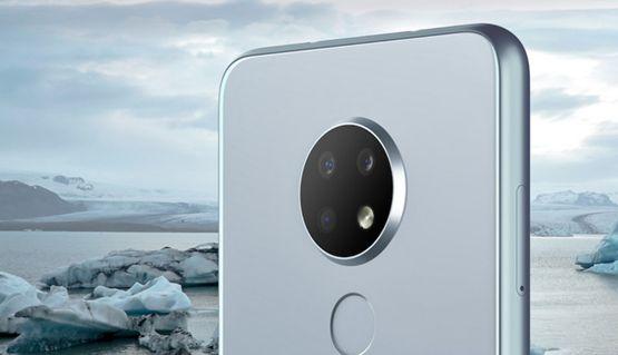 Внешний вид объектива фотокамеры на смартфоне Nokia 6.3