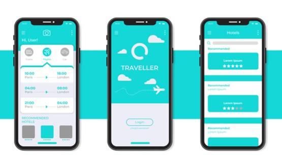 Минималистский шаблон интерфейса современного смартфона
