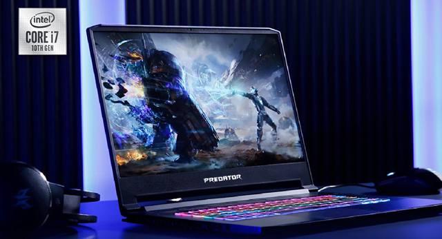 Игровой ноутбук Predator Triton 500 на рабочем столе