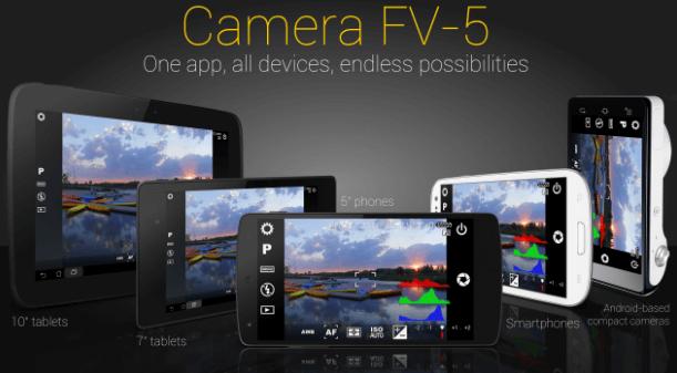 Camera FV-5 – наиболее обширная программа, которая отлично подойдёт любителям ручного режима съемки фотографий