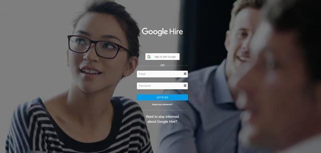 Заглавная страница Google Hire – проект поиска работы