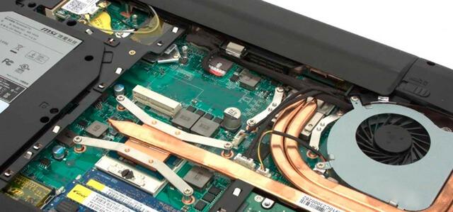 Классическая система охлаждения компонентов ноутбука