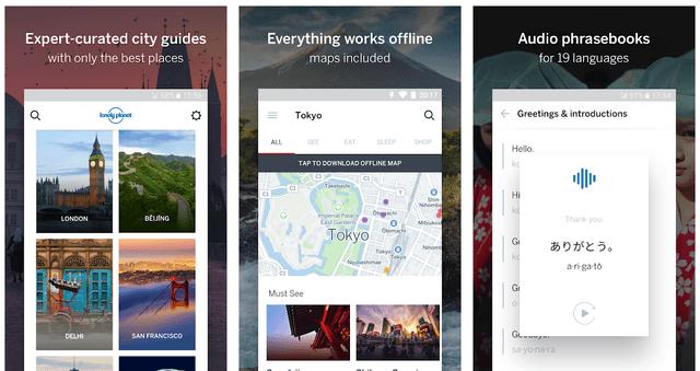 Приложение Guides by Lonely Planet – бесплатный гид путешественника