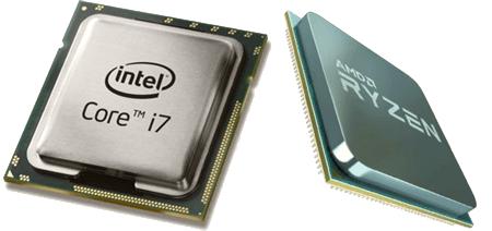 Два главных компьютерных процессора – AMD и Intel