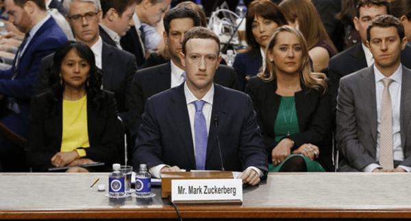 Марк Цукерберг на допросе в Конгрессе США