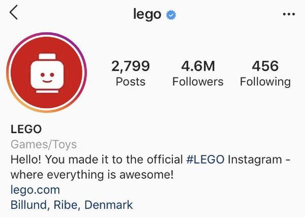 Пример использования логотипа для выделения профиля в Instagram