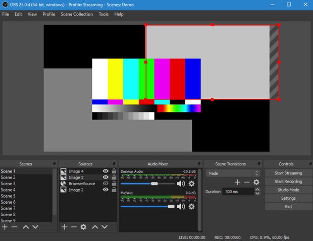 OBS Studio – бесплатная программа с открытым исходным кодом для записи видео и потокового вещания