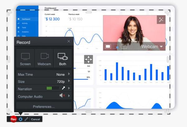 Приложение Screencast-O-Matic для быстрой записи