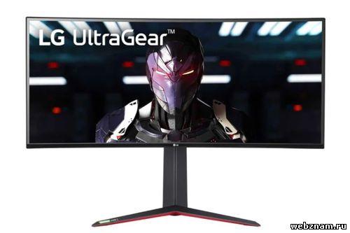 Игровой монитор LG UltraGear с изогнутым дисплеем
