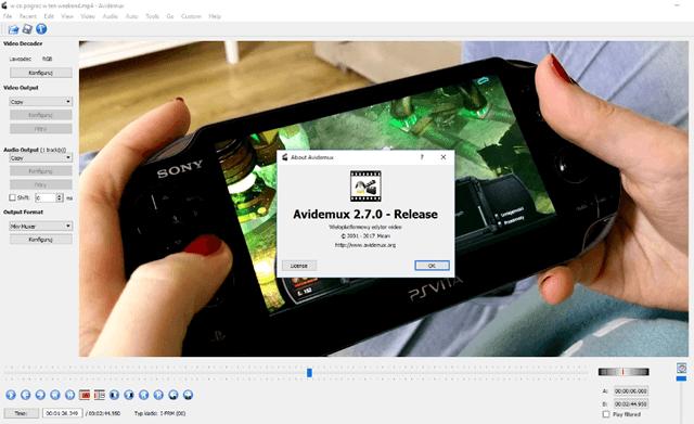 Avidemux – это бесплатный и регулярно обновляемый редактор видео