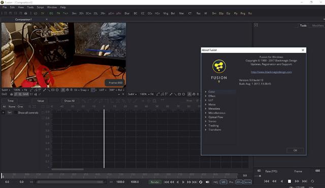 BlackMagic Fusion 9 – инструмент для создания спецэффектов в видео