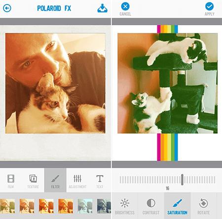 Polaroid Fx – ретро-стиль фотографий