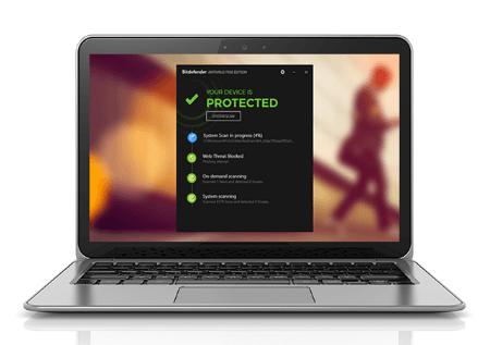Bitdefender Antivirus Free Edition основан на облачных вычислениях