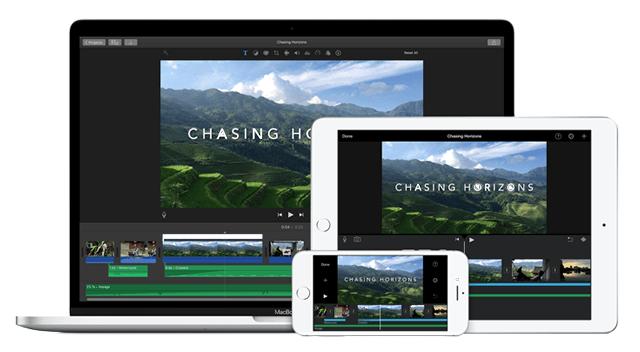 iMovie – редактор видео для устройств марки Apple