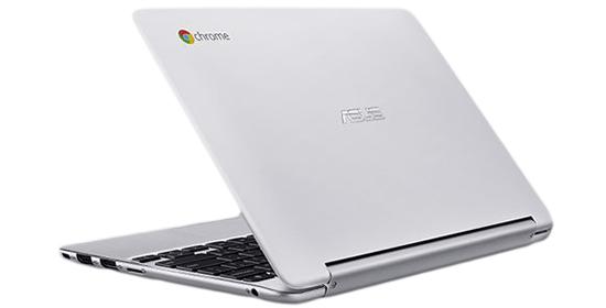 Оборотная сторона ASUS Chromebook с корпусом из цельного куска алюминия