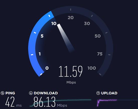 Оценка скорости интернет-соединения