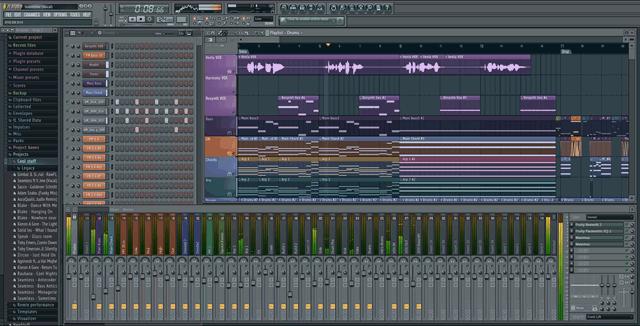 Интерфейс профессионального музыкального редактора FL Studio