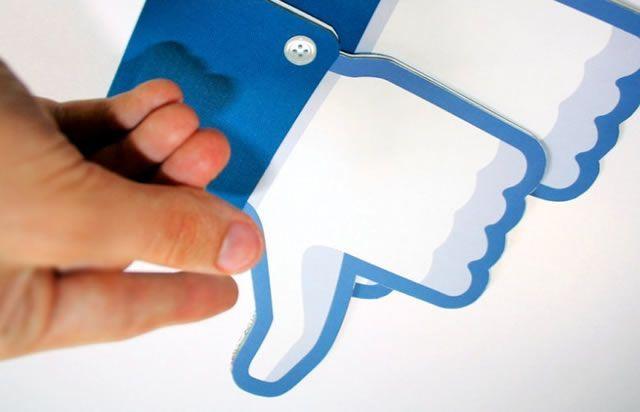 Образ нелюбви к социальной сети Facebook