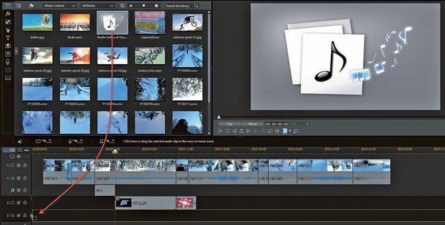 Добавление фоновой музыки к видео через приложение PowerDirector