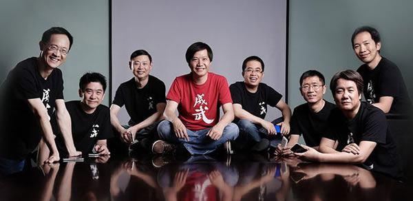 Команда руководителей компании Xiaomi