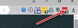 Значок браузера, свидетельствующей об успешном входе в личный кабинет LastPass