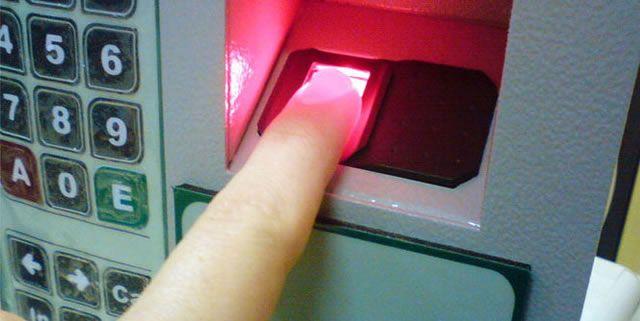 Использование сканер отпечатков пальца для оплаты в Японии