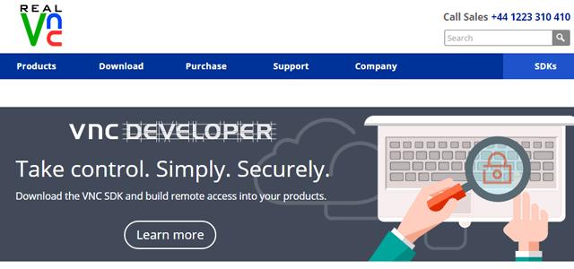 Официальный сайт программы RealVNC