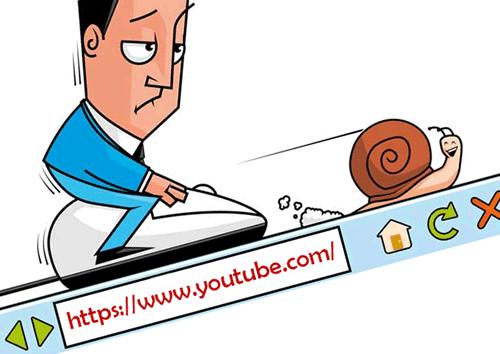 Медленная загрузка видео на YouTube