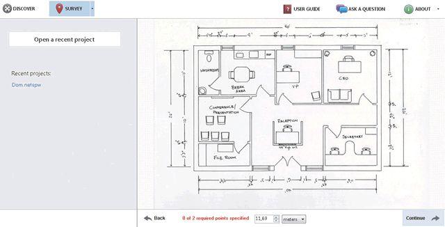 Загрузка карты помещения для сканирования беспроводной сети в NetSpot