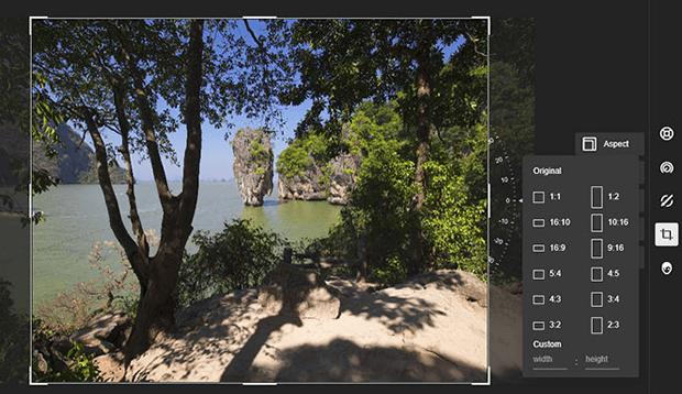 Изменения композиции фотографии путём обрезки лишних элементов