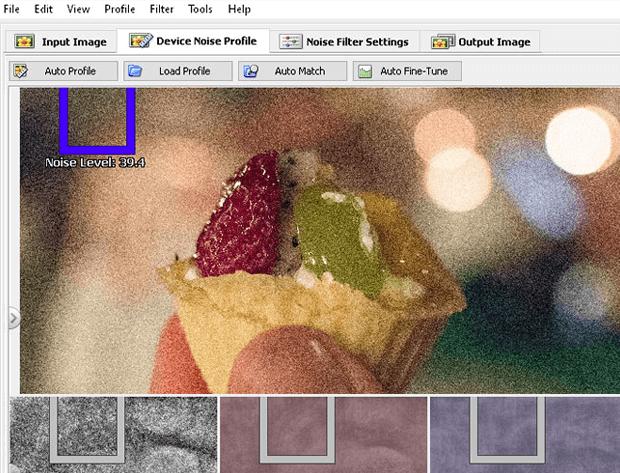 Получение образца шума для коррекции фотографии