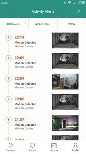 Интерфейс приложения Xiaomi для управления видеокамерами