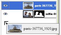 Управление слоями фотографии в редакторе GIMP