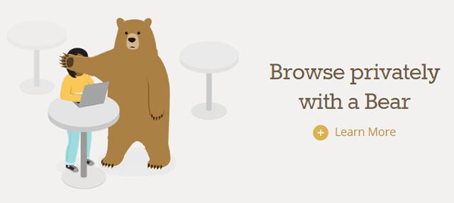 TunnelBear использует образ медведя для продвижения VPN услуг