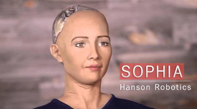Робот София от Hanson Robotics умеет пользоваться лицевой мимикой для выражения эмоций