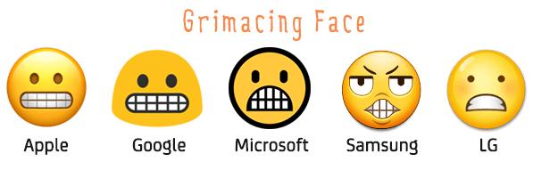 Grimacing Face на разных платформах