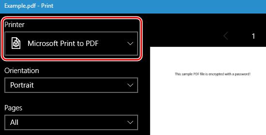 Печать PDF-файла средством просмотра Windows