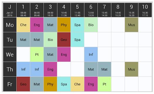 Приложения для составления расписания уроков в школе