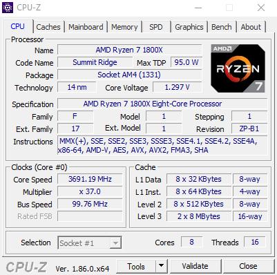 Программа CPU-Z – для идентификации оборудования
