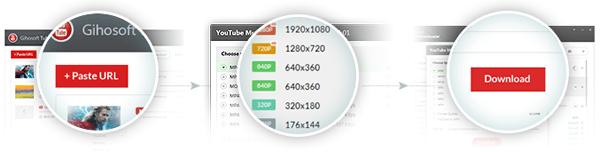 Алгоритм загрузки видео с помощью Gihosoft TubeGet Pro