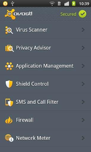 Защита смартфонов - Avast Mobile Security
